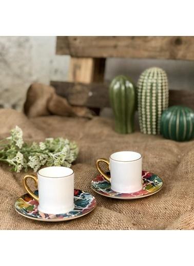 Koleksiyon Eva 6'lı Amazon Tropic Türk Kahve Seti Renkli
